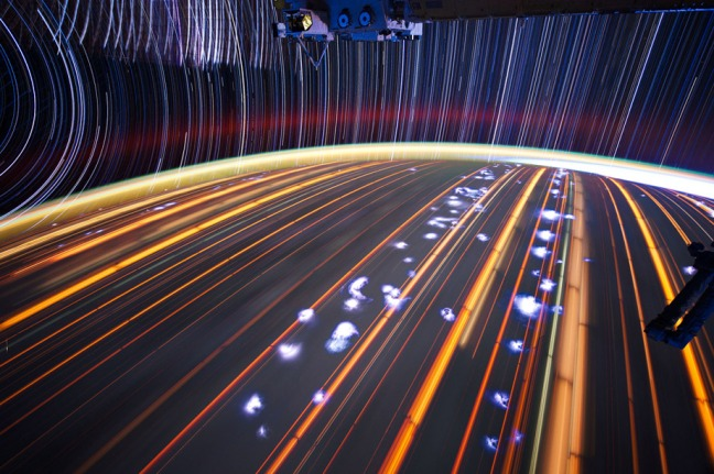 Astronaut Don Pettit's photos of star trails