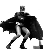 Adam West as Batman in 1965