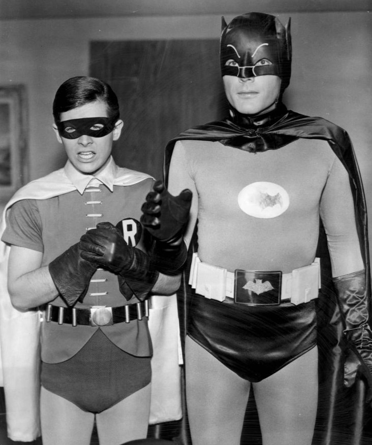 Batman and Robin in the 1966 TV show.