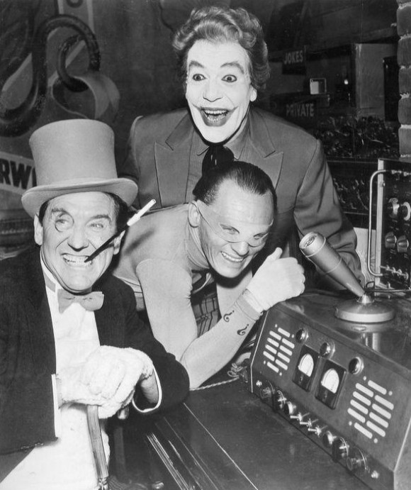 Batman villains, The Penguin, The Riddler and The Joker in 1967