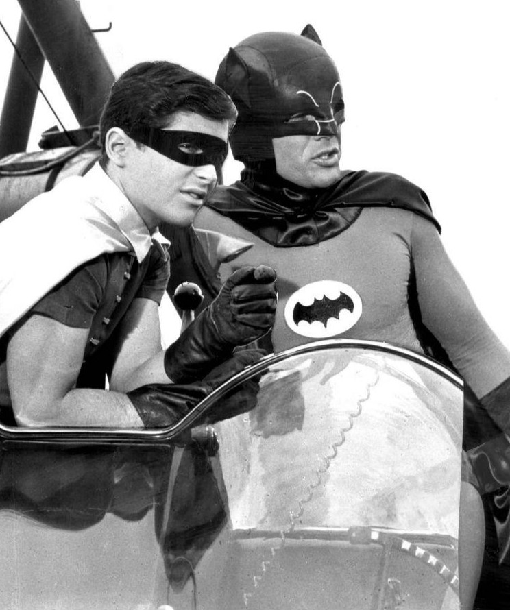 Robin and Batman in the 1965 TV show.
